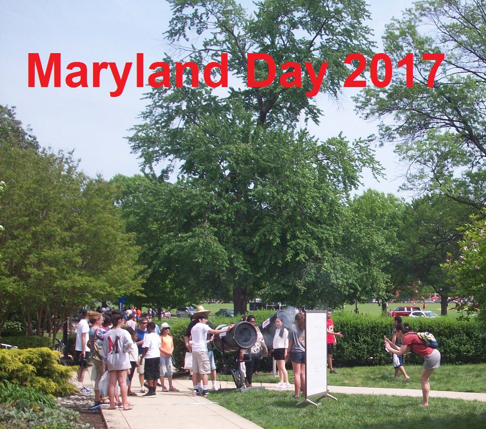 Fun with the Smoke Ring Projectors, Maryland Day 2017