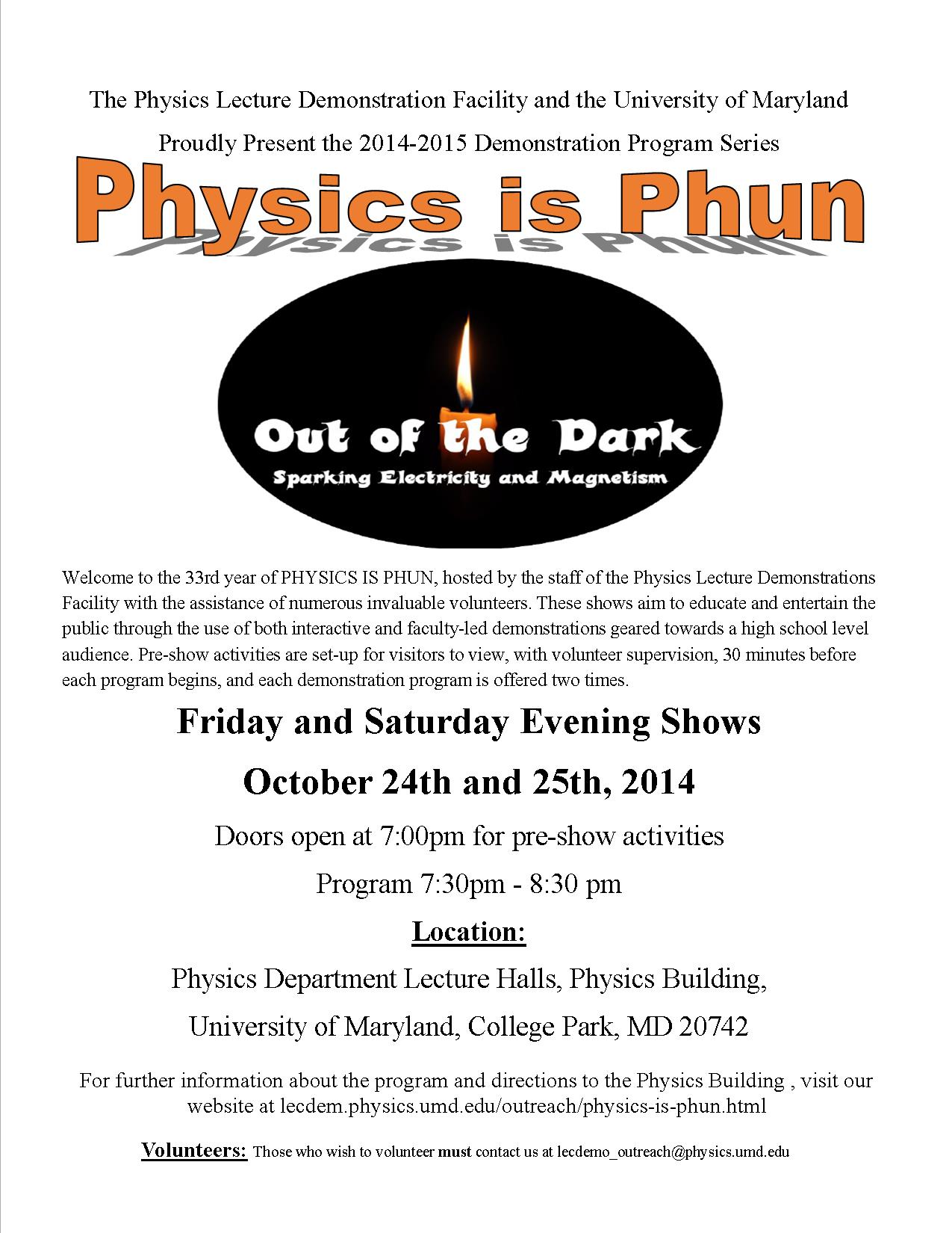PiP Out of the Dark flyer