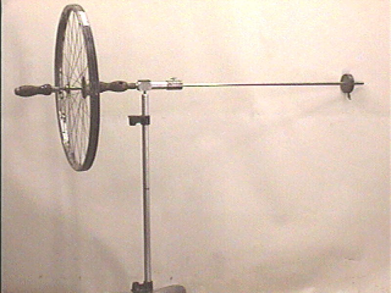D4-02: BICYCLE WHEEL GYROSCOPE WITH COUNTERWEIGHT