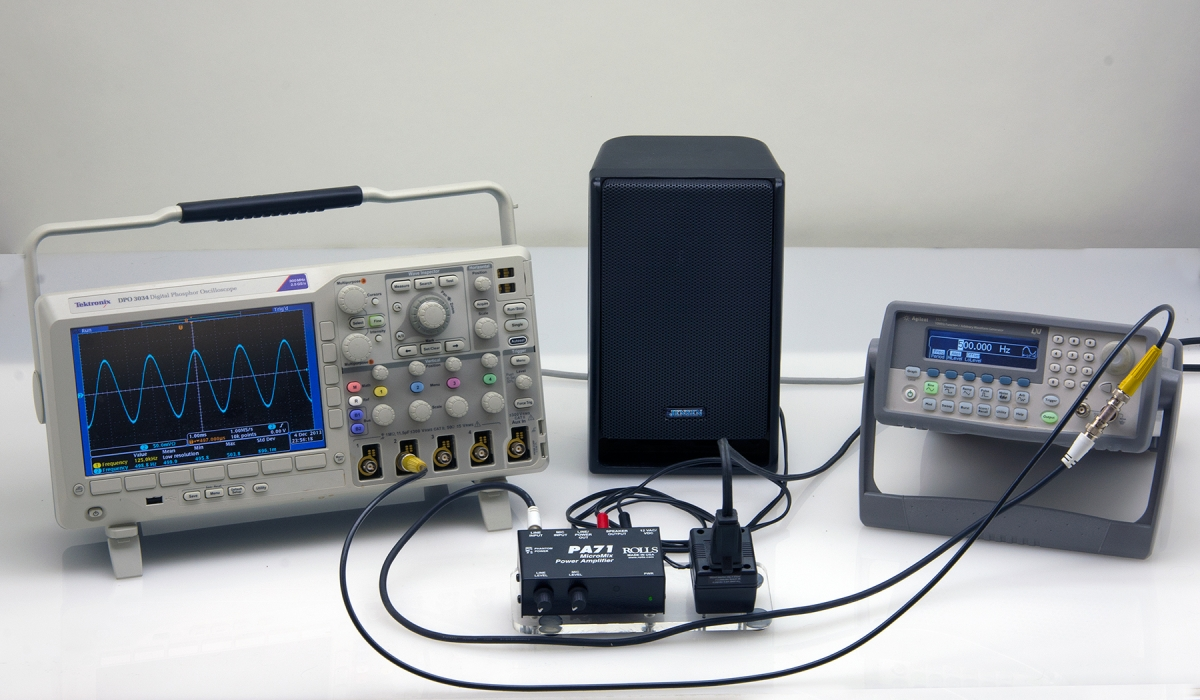 H1-13 WAVEFORM GENERATOR, SPEAKER AND OSCILLOSCOPE