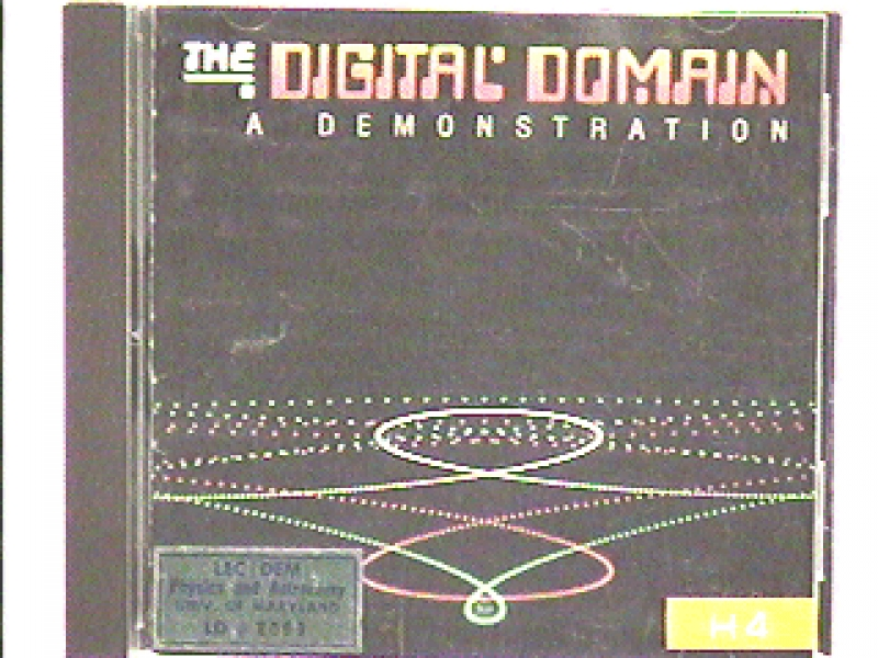 H4-92: AUDIOTAPE - DIGITAL DOMAIN DEMONSTRATION CD