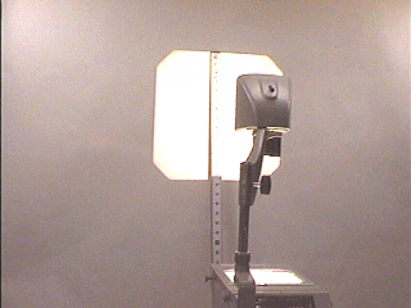 L1-12: INVERSE SQUARE LAW - OVERHEAD PROJECTOR AND TWO-METER STICK