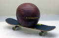 C7-23: MEDICINE BALL AND SKATEBOARD